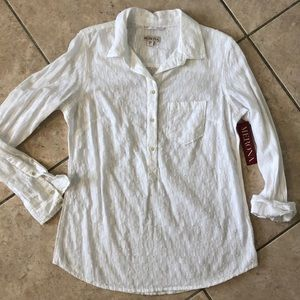 NWT Merona relaxed fit cotton blouse size Small